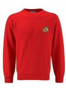 AJ123 - Red Crew Neck Sweatshirt
