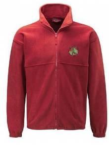 AJ123 - Red Full Zip Fleece