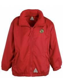 AJ123 - Red Waterproof Fleece Jacket