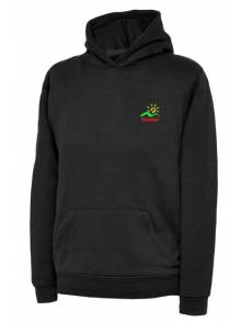 AJ941 - Black Hooded Sweatshirt