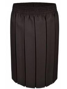 AJ840 - Brown Pleated Skirt - SKB