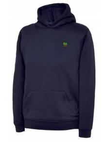 AJ550 - Navy Hooded Sweatshirt