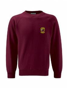 AJ104 - Burgundy Select Raglan Crew Neck Sweatshirt