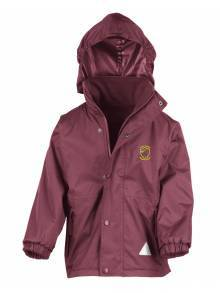 AJ104 - Burgundy Result Children's Reversible Stormproof Jacket