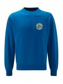 AJ276 - Dark Royal Select Drop Shoulder Crew Neck Sweatshirt