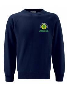 AJ908 - Round Neck Sweatshirt Navy