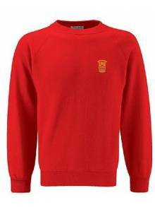 AJ889 - Red Crew Neck Sweatshirt