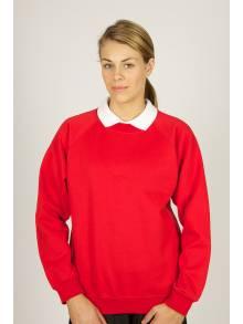 AJ889 - Red Crew Neck Sweatshirt