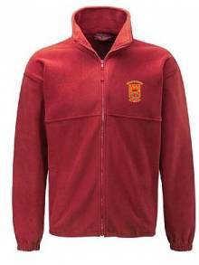 AJ889 - Red Full Zip Fleece