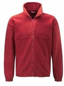 AJ889 - Red Full Zip Fleece