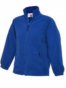 AJ576 - Royal Blue Full Zip Fleece Jacket