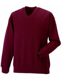 AJ018 - V-Neck Jumper Burgundy