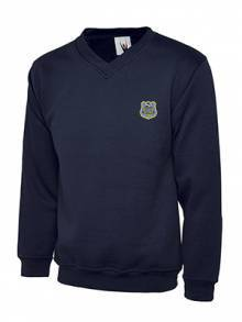 AJ341 - Navy Children's V Neck Sweatshirt