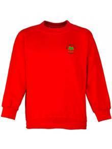 AJ550 - Crew Neck Raglan Red Sweatshirt
