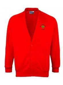 AJ550 - Red Cardigan