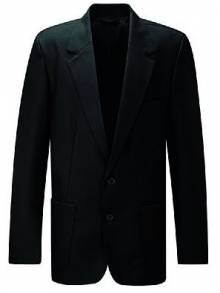 AJ015 - Black Boys Zip Entry Blazer